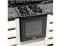 Fogão 4 Bocas de Embutir Dako Preto com Grill - Acendimento Automático Dako Turbo Glass DE4VTP
