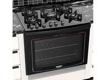 Fogão 5 Bocas de Embutir Dako Preto com Grill - Acendimento Automático Dako Turbo Glass DE5VTP