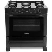 Fogão 5 Bocas Suggar Automático Cook Mesa de Vidro FGV500PT -