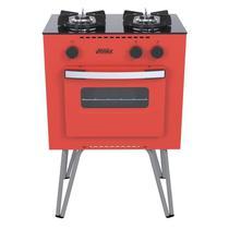 Fogao a Gas Mini Cook 2 Q Vermelho Gás Glp - Venax