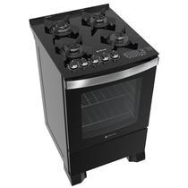 Fogão Atlas 4 bocas preto com mesa de vidro - Top Gourmet Glass - Atlas Eletrodomésticos