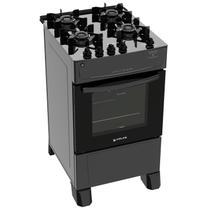 Fogão Atlas 4 Bocas preto Mônaco Top Glass com Acendimento automático - Bivolt - Atlas Eletrodomésticos
