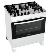 Fogão Atlas 5 Bocas branco Mônaco Top Glass com Acendimento automático - Bivolt - Atlas Eletrodomésticos