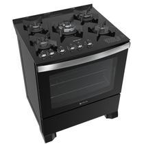 Fogão Atlas 5 bocas preto com mesa de vidro - Top Gourmet Glass - Atlas Eletrodomésticos