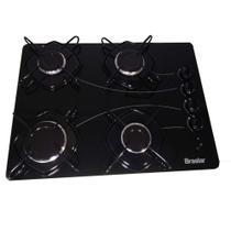 Fogão cooktop 4 bocas acendimento automático bivolt a gás Braslar pop -