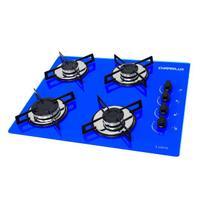 Fogao cooktop chamalux 4bocas azul (glp) -