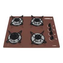 Fogao cooktop chamalux 4bocas marrom (glp) -