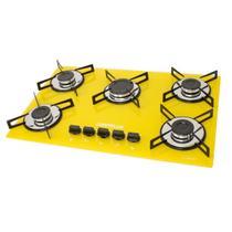 Fogao cooktop chamalux 5bocas amarelo (glp) -