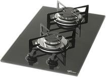 Fogao cooktop fischer 2q gas mesa vidro -
