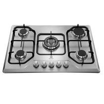 Fogao Cooktop Gas 5 Bocas Electrolux GT75X, Tripla Chama, Bivolt - Inox -