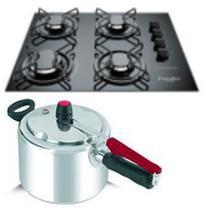 Fogão cooktop Gourmet e Panela de pressão 4,5L Clock - Esmaltec/Clock