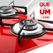 Fogão Cooktop Safanelli 4 Bocas Vermelho 4Q Lines FCV402 -