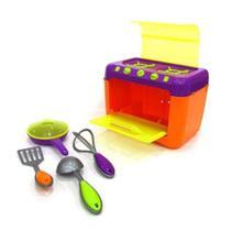 Fogão de Brinquedo Color Chefs c/ Acessórios Usual Brinquedos -