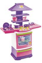 Fogão de Brinquedo Infantil com Pia e Utensílios de Cozinha Master Fogão Poliplac 5566 -