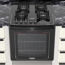 Fogão de Embutir 4 Bocas Dako Turbo Glass DE4VT-PF0 com Mesa de Vidro Preto  Bivolt -