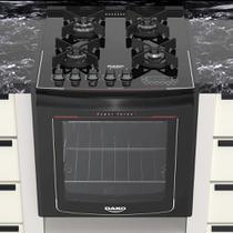 Fogão de Embutir 4 Bocas Turbo Glass Mesa de Vidro Dako - Daku