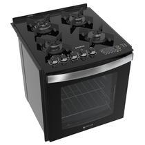 Fogão de embutir Atlas 4 bocas preto mesa de vidro - Top Gourmet Glass - Atlas Eletrodomésticos