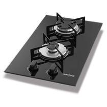 Fogão de mesa cooktop 2 bocas vidro preto à gás suggar fg2002vp -