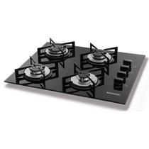 Fogão de mesa cooktop 4 bocas vidro preto à gás suggar fg4004vp -
