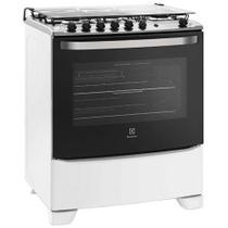 Fogão de Piso Electrolux 5 Bocas 76SQB Full Glass Branco - Bivolt -