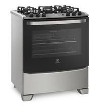 Fogão de Piso Electrolux 5 bocas cor Prata com Mesa de Vidro e Tripla Chama Electrolux 76USV - Bivolt -