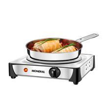 Fogão Elétrico 1 Boca de Mesa Inox 1000W - Mondial Fast Cook FE-04 110v -