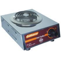 Fogão Elétrico Portátil de Mesa 1 Boca 1250W Hot Turbo Inox 220V Resistência Blindada Cotherm 2446 -