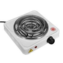 Fogão Elétrico Portátil Espiral 1 Boca, 110 Volts, Branco, 1000 Watts - FIX -