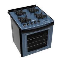 Fogão Embutir Dako Azul 4 bocas mesa de vidro Dakolors - Bivolt -