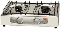 Fogão gas portátil 2 bocas em aço platinyum Layr -