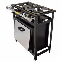 fogão industrial 2 bocas com forno gastromixx -