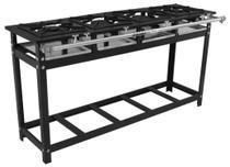 Fogão Industrial 4 Bocas em Linha 30x30 Alta Pressão P7 Lux - MetalFour -