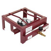 Fogão Industrial Alta Pressão De Mesa 1 Boca Lx Com Caixa Roa -