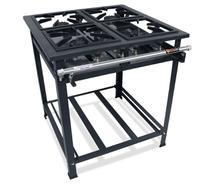 Fogão Industrial de 4 Bocas 30x30 de Alta Pressão com 4 Queimadores Simples com Pés - P5 Compact - MetalFour - 5714