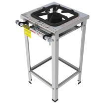 Fogão Industrial Inox Gastromaq 1 Boca Linha Simples FGI301LS -