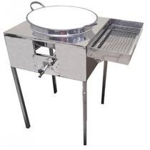 Fogão Pasteleiro Fritador de Pastel Inox com Escorredor com Tacho número 18 - 0091 R2 -