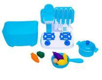 Fogãozinho Completo Brinquedo 5 pçs Diversão Toy Cozinha - Toys