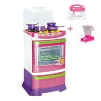 Fogãozinho Cozinha Infantil Fogão Batedeira e Liquidificador - Poliplac