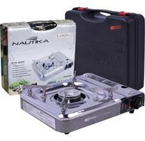 Fogareiro a gas cheff nautika inox camping acendedor automatico -