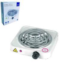 Fogareiro / fogao eletrico portatil espiral 1 boca 220v preto/branco na caixa - Rio De Ouro
