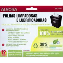 Folha De Lubrificação e Limpeza Para Fragmentadora Aurora SP1000 -