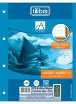 Folha Para Fichário Universitário 200 Folhas 4 Furos Branco Tilibra -