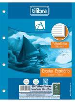 Folha Para Fichário Universitário 96 Folhas 4 Furos Branco Tilibra -