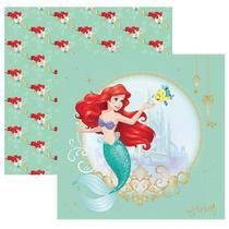 Folha para Scrapbook Dupla Face Disney Toke e Crie Ariel 1 Guirlanda - 19566 - SDFD81 -