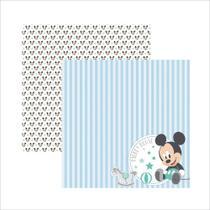 Folha para Scrapbook Dupla Face Disney Toke e Crie Baby Mickey 2 Paisagem - 19331 - SDFD037 -