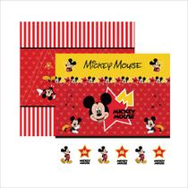 Folha para Scrapbook Dupla Face Disney Toke e Crie Mickey Mouse 1 Cenário e Bandeirolas - 19306 - SDFD012 -
