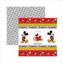 Folha para Scrapbook Dupla Face Disney Toke e Crie Mickey Mouse 1 Fitas e Rótulos - 19307 - SDFD013 -
