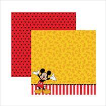 Folha para Scrapbook Dupla Face Disney Toke e Crie Mickey Mouse 2 Barrado - 19312 - SDFD018 -