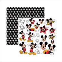 Folha para Scrapbook Dupla Face Disney Toke e Crie Mickey Mouse 2 Recortes - 19313 - SDFD019 -