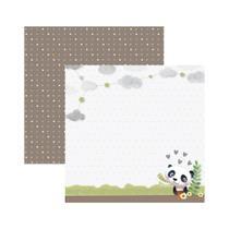 Folha para Scrapbook Dupla Face Toke e Crie Baby Panda no Jardim 21822 - SDF847 -